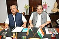 Shri Chaudhary Birender Singh takes charge as Union Minister for Steel, in the presence of the Union Minister, Shri Narendra Singh Tomar, in New Delhi on July 06, 2016.jpg