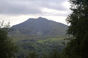 Moel Siabod - Moel Siabod from Ty Hyll showing old slate mining site.