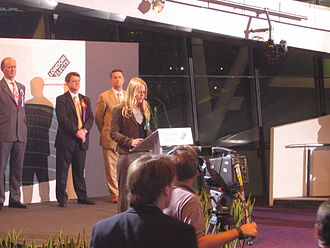 London mayoral election, 2008 - Siân Berry speaking at the London mayoral announcement
