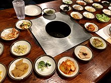 Side dishes of Korean Barbecue.jpg