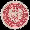 Siegelmarke Bürgermeisteramt Ohlweiler in Simmern W0384163.jpg