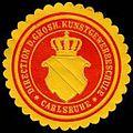 Siegelmarke Direction der Grosherzoglichen Kunstgewerbeschule - Carlsruhe W0232842.jpg