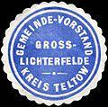 Siegelmarke Gemeinde - Vorstand Gross - Lichterfelde - Kreis Teltow W0224348.jpg