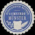 Siegelmarke Gemeinde Münster K. Bayern W0352376.jpg
