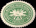 Siegelmarke Sächsischer Militär - Feuer - Versicherungs - Verein - Zwickau W0209486.jpg