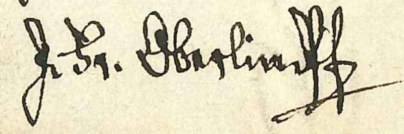 File:Signature de Jean Frédéric Oberlin issue d'une lettre de lui adressée au libraire Heitz datée du 8 mars 1819..jpg