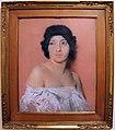 Silvio bicchi, ragazza su fondo rosa, 1930-40 ca..jpg