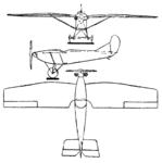 Simůnek VBS-a 3-view Le Document aéronautique February,1928.png