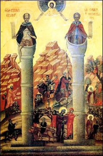 Stylite - Image: Simeon Stylites stepping down