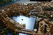 หุ่นจำลองเมืองสิงคโปร์ บริเวณ Marina Bay ปากแม่น้ำสิงคโปร์