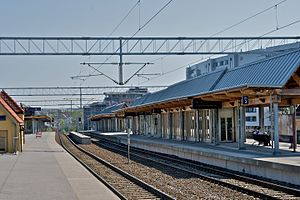 Skøyen Station - Image: Skøyen stasjon 2009 05 01 at 13 22 11