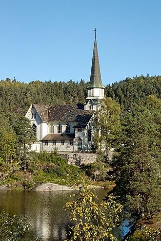 Haldor Børve - Skotfoss Church, built 1900
