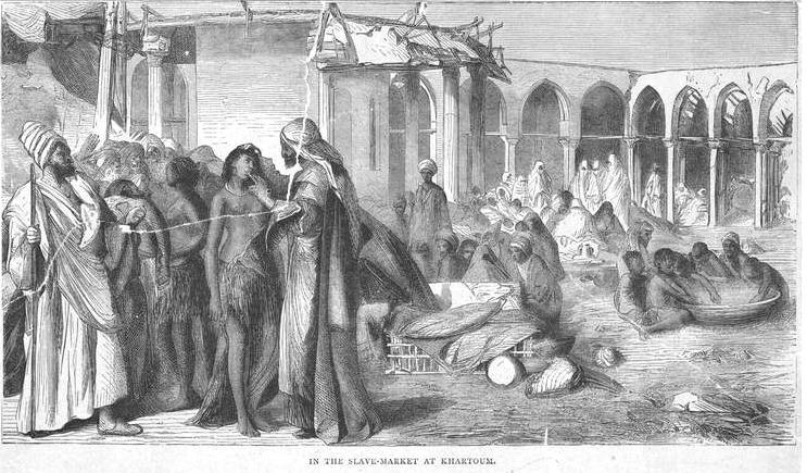 Slave market Khartoum 19th c
