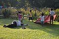 Sleepy Man and Playful Children - Alipore - Kolkata 2013-11-10 4537.JPG