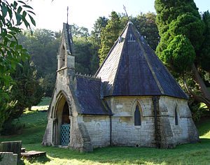 Smallcombe Cemetery - The nonconformist Smallcombe Vale Chapel, designed by Alfred S Goodridge