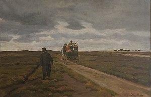 Hans Smidth - Image: Smidth Hedelandskab med en dagvogn 1913