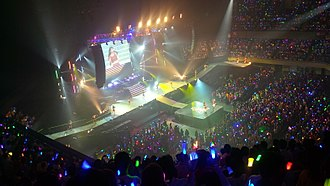 Angerme - S/mileage at their first Performance in the Nippon Budokan 2014