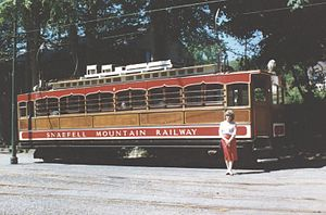 Snaefell Mountain Railway - Car No.2 at Laxey railway station