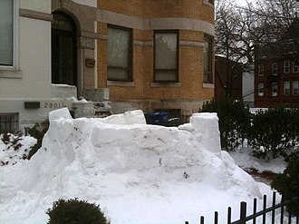 Snow fort - A snow fort in Washington, D.C., United States