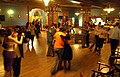 Social tango dancing at the Urania milonga.JPG
