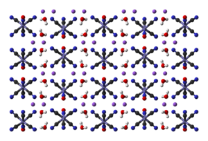 Sodium nitroprusside - Structure of sodium nitroprusside in the solid state, obtained by neutron diffraction
