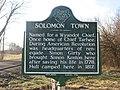 Solomon's Town historical marker.jpg