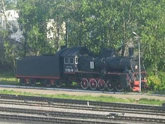 Sonkovo railway station - Image: Soncovo locomotive