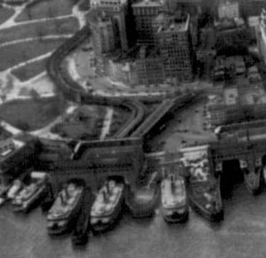 South Ferry (IRT elevated station) - The terminal in 1931
