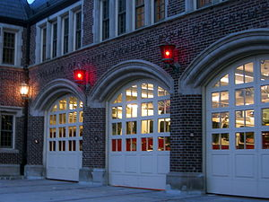 South Orange Fire House - Additional bay doors, also on Sloan Street.