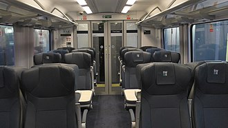 British Rail Class 444 - The interior of First Class aboard South Western Railway