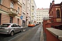 South view of U tržnice street in Vinohrady, Prague.jpg