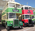 Southdown bus 786 (RUF 186) & Brighton Corporation bus 23 (23 ACD), Brighton & Hove bus company 75th anniversary rally.jpg