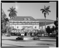 Southern Facade of clubhouse- CD-N. - Hialeah Park Race Track, East Fourth Avenue, Hialeah, Miami-Dade County, FL HABS FLA,13-HIAL,1-33.tif