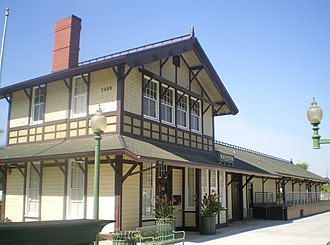 Whittier, California - Southern Pacific Railroad Depot