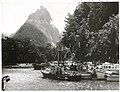Southland - Mitre Peak Publicity Caption Fishing boats with Mitre Peak in the background, Milford Sound, Southland Photographer Mr Neill.jpg