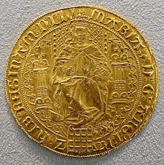 Sovereign (British coin) - Sovereign of Queen Mary I, c. 1553