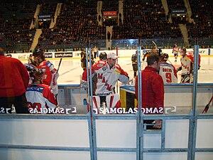 Spiller i Malmö Red hawks.   JPG