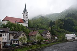 Spodnja Idrija in a light rain (8942254445).jpg
