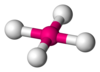 Ball-and-stick model of mercury (IV) fluoride