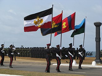 Uniforms of the Sri Lanka Army - Ceremonial army uniforms on prarade.