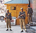 Srinagar Indian Security Forces Post Holding Street at time of riot.jpg