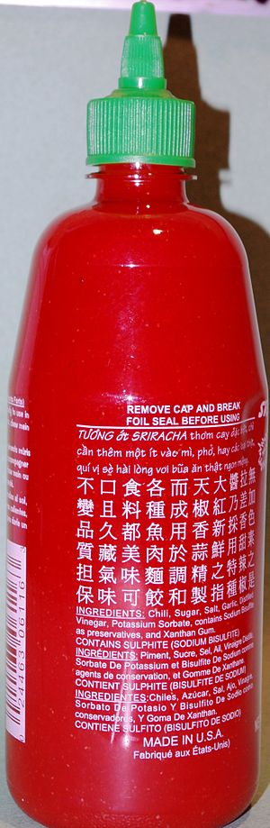 Sriracha sauce - Image: Sriracha sauce
