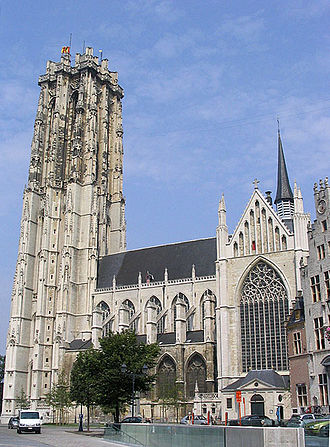 Brabantine Gothic - St. Rumbold's Cathedral in Mechelen (Tower 97 m – its spire was never built)