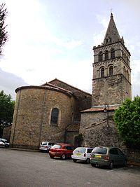 St.Etienne-de-Fontbellon (Ardèche, Fr) église, chevet et tour.JPG