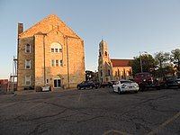 St. Joseph's Church and Parochial School - Hays Kansas 5-7-2014.jpg