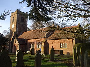 St Bartholomew's Church, Barrow - St Bartholomew, Barrow, from the south