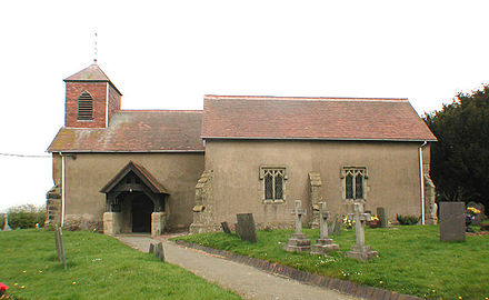 St James the Greater, Dadlington: the dead of Bosworth Field were buried here. St James the Greater, Dadlington.jpg