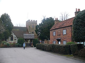 Thorpe, Surrey - Image: St Mary's Church, Thorpe geograph.org.uk 1165741