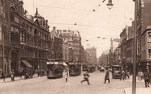 St Mary Street/High Street - Image: St Mary Street, Cardiff c 1920s