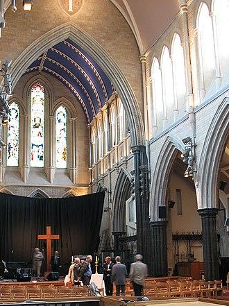 St Paul's, Hammersmith - Interior of St Paul's Hammersmith (taken during restoration work)